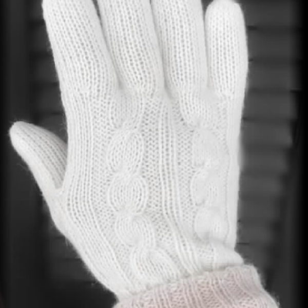 Elite Hands, Gloves, Unisex Double knit Reversible with cable design