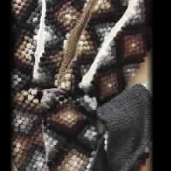 Feona Headband knit reversible, handwork