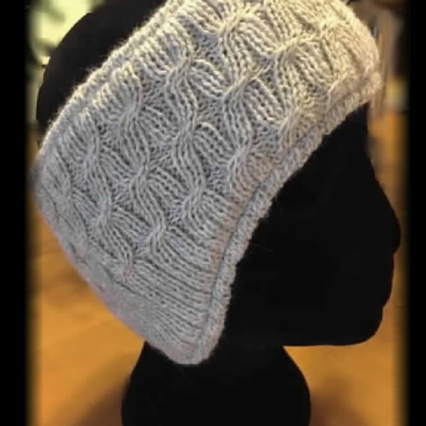 St Clair Headband knit with covered ears, lined, unisex, handwork