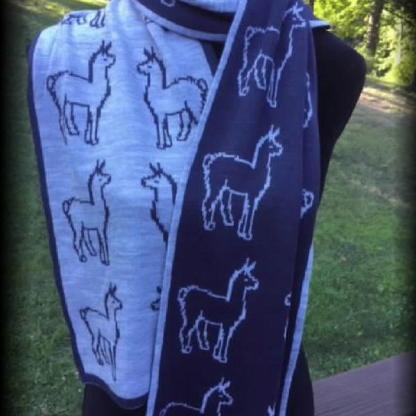 Passion Scarf Reversible Alpaca Print